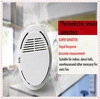 Wholesale 2016 new high Sensitivity Stable Photoelectric smoke Smoke Detector Alarms System Sensor Fire Alarm Detached Detectors Home A0035
