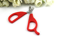 Wholesale Pet Dog Cat Scissors Shape Grooming Nail Clipper retail ZD049B