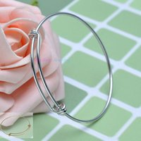 base metal beads - Fashion Wiring Copper Metal Expandable Adjustable Charms Blank Base Bracelet Bangle For DIY Beads Pendants