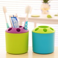Wholesale 36 Pieces Creative toothbrush rack multi purpose plastic toothbrush Holders receive tube commodity department household Supplies