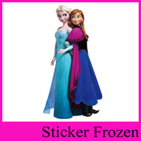Wholesale frozen wallpaper anna and elsa home decoration cartoon pvc kids room movie wall stickers home decor removable d wall decals zooyoo1420