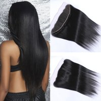 Wholesale 8A Brazilian Hair Lace Frontal Closure x4 quot Free Part Peruvian Malaysian Indian Straight Hair quot kilala bellqueen Hair Products