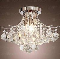 Wholesale Modern LED Chandeliers Lights K9 Crystal Pendant Light droplight Modern Minimalist indoorLights