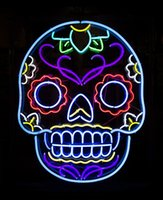 bar signage - NEON SIGN for skull avatar REAL GLASS BEER BAR PUB display Light Signs Signboard signage Store Shops Decor quot