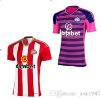 Wholesale 16 Sunderland shirts Sunderland home and away short Britain sleeve popular Thai edition uniforms Defoe
