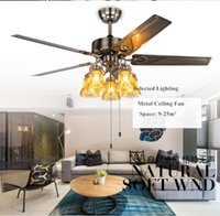 Wholesale 48 inch inch ceiling fan with lights luxurious living room chandelier bedroom restaurant lamp modern ceiling fan DHL
