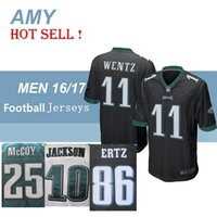 Wholesale NIK Elite Football Stitched Eagles Blank ERTZ Carson Wentz JACKSON MCCOY White Green Black Jerseys Mix Order