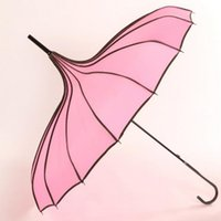 anti wind umbrella - Creative Wedding Palace Retro Princess Wind Straight Umbrella Romantic Women Anti Ultraviolet Umbrella Gift For Friends lover