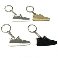 Wholesale 2016 hot sellKeychain Sneaker Key Chain Kids Key Rings Key Holder black and gray
