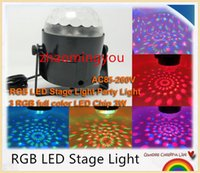 Wholesale MINI w full colour RGB LED Stage Light Projector DJ dance Disco ball bar home Party Xmas effect Stage Light