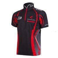 angler fish shirt - New fishing shirt outdoor sportswear fishing jersey Hiking climbing Anti UV angler sports apparel Red black