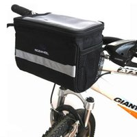 Wholesale New Black Bicycle Cycling Handlebar Bag Front Tube Pannier Rack Bag Basket for outdoor sport L H8110