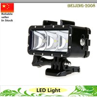 Wholesale Waterproof Underwater m High Power LED Video POV Flash Fill Light Portable Night Light For GoPro Hero action camera