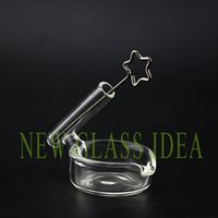 Wholesale Smoking dabber Titanmiu with glass oil dish for oil rig water pipe smoking accessories
