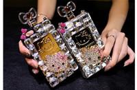 al por mayor amor caso iphone5-Caja de lujo del teléfono celular de la botella de perfume de Bling del diamante Caso del teléfono celular del gato del amor para Iphone6 más (5.5), IPhone6S (4.7), Iphone5, Iphone4