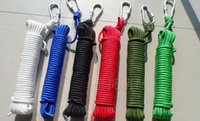 Wholesale 20 M Outdoor Safety Escape Rope mm Rope Camping Travel Essential Climbing Rope m Parachute Rope