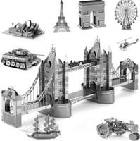 architecture toys - Alloy Metal Miniature Scale Model Eiffel Leaning London Tower Bridge d Puzzle World s Great Architecture Building Toys