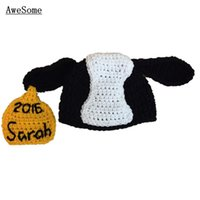 baby cow names - Novelty Cow Hat Handmade Knit Crochet Baby Boy Girl Animal Hat with Name Black White Yellow Toddler Beanie Infant Photo Prop