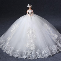 Wholesale Big upscale Barbie doll with wedding dress Barbie doll gifts
