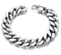 al por mayor 14 mm de acero inoxidable cadena de frenar-Promoción 10PCS / LOT Mixe de la joyería del tono de la plata de las pulseras del acoplamiento del corchete de la pulsera de acero inoxidable del cubo 10/12 /