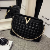 Wholesale women shoulder bag new fashion quilted shell bag soft pu leather handbag girls casual solid chain messenger bag