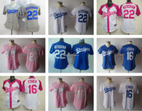 andre ethier jersey - Women Clayton Kershaw Andre Ethier White Grey Blue Pink Women Baseball Jerseys Stitched Jersey Drop Shipping Top Quality