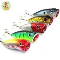 bass fishing rods - 5pcs top water fishing lure popper fit yo zuri kosadaka rod wobbler hard bait poper sea bass artificial mepps cm g rap F181