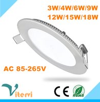 Wholesale SMD2835 round LED panel light w w w w w w w LED downlight AC85 V Energy saving indoor lamp ceiling light