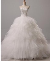 Cheap free shipping Ball Gown Wedding Dress Court Train Sweetheart Tulle with Beading babyonline