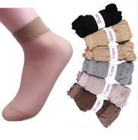 antibiotic - woman socks Spring summer ultra thin breathable socks antibiotic sock crystal socks colors pairs