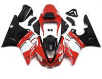 achat en gros de yamaha r1 blanc rouge-3 Free Gifts Nouveaux kits de carénages de moto pour YAMAHA YZF-R1 2000 2001 r1 00 01 YZF1000 carrosserie nice rouge noir blanc Royaume-Uni