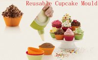 baking with silicone cupcake molds - Reusable Cupcake Mould Platinum Silicone Round Bakeware Maker Mould Tray Baking Cup Liner Baking Molds with