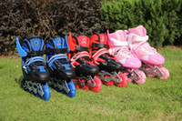 adjustable inline skate - Dynamic eight full flash adjustable skates Children Inline skating shoes skates shipping to send packets to send roadblocks