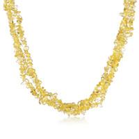 Mode bijoux femmes chock collier jaune naturel cristal irrégulier forme charme collier gros prix bas prix shopping cadeau