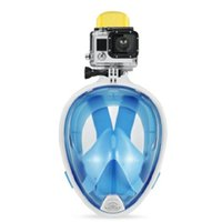 Wholesale Blue Size Small Anti Fog Anti Leak Technology snorkel diving mask easybreath snorkeling mask For Children