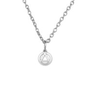 alcoholics anonymous gifts - 100pcs Alcoholics Anonymous Rhodium Plated Alloy Pendants Link Or Rope Chain Necklaces Jewelry A121667