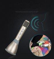 best wireless microphone for karaoke - Best Gift K068 Wireless bluetooth Microphone microfone with Mic Speaker Condenser Mini Karaoke Player KTV Singing Record for Mobile Phones