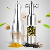 Wholesale 304 Stainless Steel Faucet Bowling Pepper Disc Grinder Spice jar Spice Bottles Grain Mill