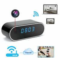 Wholesale 1920x1080P HD Mini P2P Wireless Wifi Hidden Spy Camera Night Vision Clock Motion Activated Video Recorder Indoor DV Camcorder