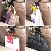 Wholesale Utility Convenient Double Vehicle Hangers Auto Car Seat Headrest Bag Hook Clip Car Storage Accessories
