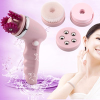 Wholesale 4 in Electric Face Clean Massager Brush Skin Body Facial Cleansing Beauty Hot Selling