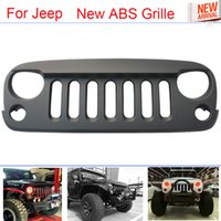 Wholesale Hot Sale Car Styling High Strength ABS Front Racing grille trims Black For Jeep Wrangler JK