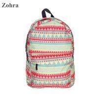 aztec print backpack - Zohra Pink aztec D printing ladies man shoulder women bag children school bags Girl Mochila Escolar infantil backpack feminina