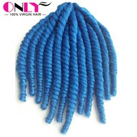 Wholesale New Products Crochet Braids With Synthetic Hair Twist Kanekalon Hair Weaves Pure Blue Hair Synthetic Jumbo Braiding Kinky Hair Weaving