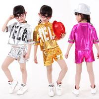 Wholesale Kid Child Girls Hip Hop Dance Pants Stage Wear Dance Clothes Dance Top Girls Dance Clothes Dancewear Pants Dance Costumes