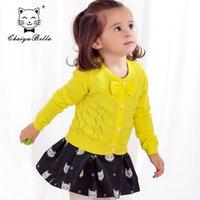 baby bolero cardigan - Baby coat solid color girls outerwear knitting cardigan kids coat bow bolero girl single breasted children girl clothes C532M003