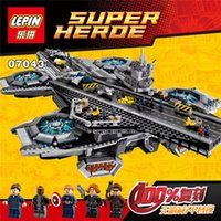 aircraft carriers - Hot new Superheroe the Shield Helicarrier Aircraft Carrier Building Block Kits Minifigure Compatible Lepin
