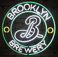 Yellow beer breweries - New Brooklyn Brewery Handicrafted Real Glass Tube Neon Light Beer Lager Bar Pub Sign Multiple Size