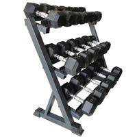 Wholesale Professional Gym Equipment Pairs Vertical Dumbbell Rack Black