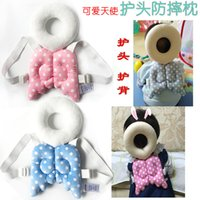 Wholesale Baby Falling Head Protection Pillow Children cartoon Wing Headrest Pad Toddler Head drop Protection Covers Cushion Support
